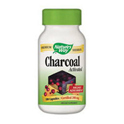 Charcoal, Activated 100 Caps 280 MG by Nature's Way