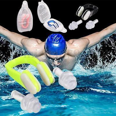 Silicone Swimming Water Sporting Protector Tool Nose Clip & Ear plugs  & Box Set