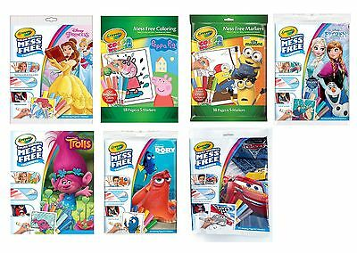 Crayola Colour Wonder Set Mess Free Markers Color Kids Colouring Fun Book Magic