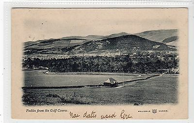 PEEBLES FROM THE GOLF COURSE: Peeblesshire postcard (C15345)