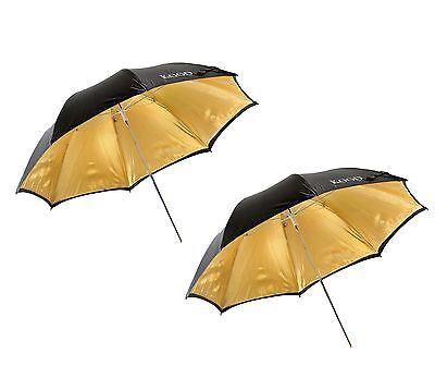 "Kood 40""/101cm Gold Reflective Studio Umbrella x2"