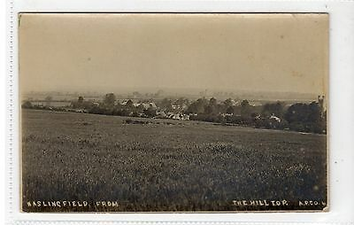 HASLINGFIELD FROM THE HILL TOP: Cambridgeshire postcard (C15840)