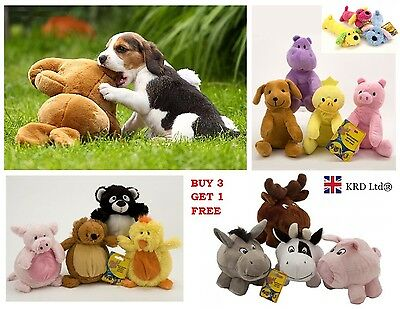 Dog SQUEAKY PLUSH TOY Squeaker Sound Pet Cat Puppy Play Chew Fetch Training Toys