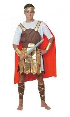 Mens Centurion Trojan Soldier Gladiator Fancy Dress Costume Adults Outfit