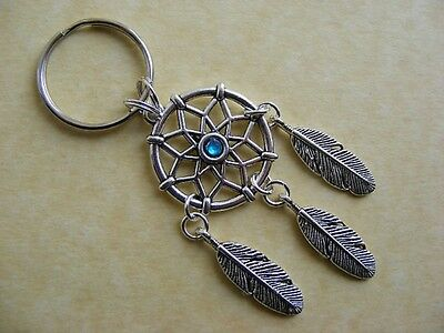 ~New~ Dreamcatcher Keyring Key Chain Bag Charm Turquoise Birthday Present Gift