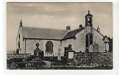 RUTHWELL CHURCH: Dumfriesshire postcard (C16151)