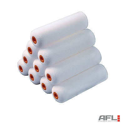 "10x Stanley 100mm (4"") Foam Mini Roller Sleeve Refills - Gloss Varnish"