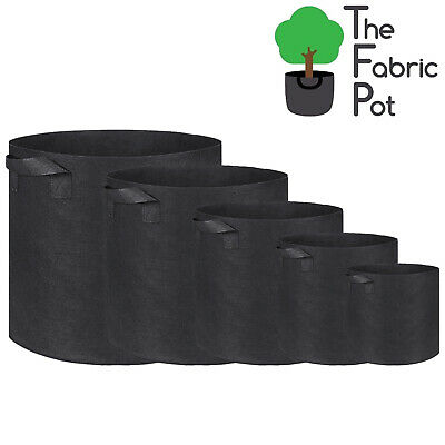 10 x Hydroponic Root Fabric Smart Pot Grow Bags Plant Container Pouch Bag Pots
