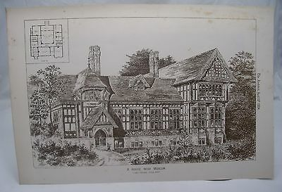 HOUSE NEAR MOSCOW KNILL FREEMAN Antique 19th Century Russian Architecture 1884*