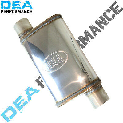 Dea Stainless Steel Muffler-Universal Fitment Inlet/outlet 3 Inch