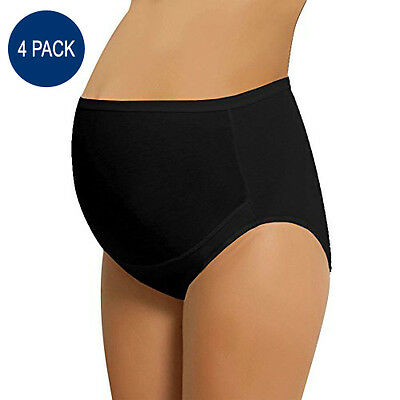 NBB Lingerie 4-Pack Women's Adjustable Cotton Maternity Panties - High Cut