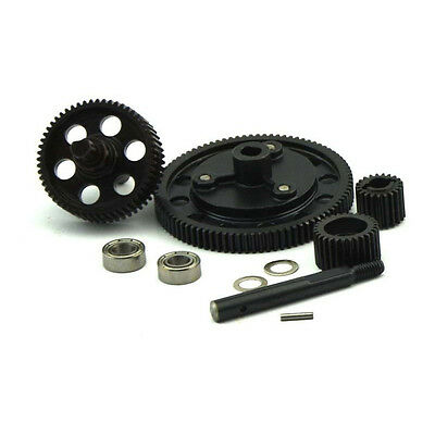 Full Metal Center Gear Drive (Angled / Pineapple Gears) with Bearing for SCX10
