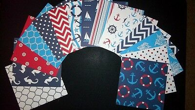 "NAUTICAL ~ 15 Fantastic Scrapbooking/Cardmaking Papers - 15cm X 15cm  (6"" x 6"")"