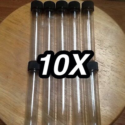 10 Test Tubes w/Caps 1.5 oz Sealable Containers Plant Seeds, Food Grade,Crafts