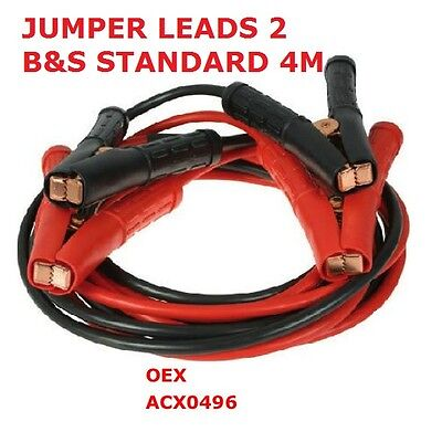 Jumper Leads 2 B&s Standard 4M Jumper Leads Oex Leads Acx0496 Battery Jump Leads