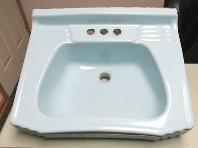 Antique Vtg Homart 20 Aqua Blue Bathroom Sink JULY 22 1953 Good Condition FRESHP • CAD $318.92