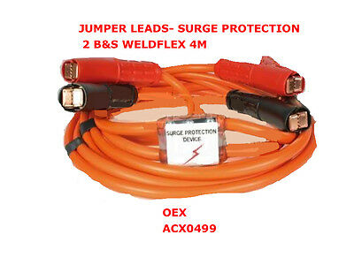 Jumper Leads With Surge Protection 2 B&s Weldflex 4M Acx0499 Battery Jumper