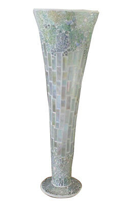 Large Vase Mosaic 40cm tall x 15cm diameter reduced to clear