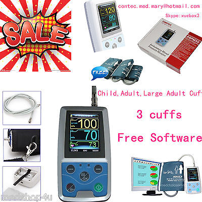 CONTEC Ambulatory Blood Pressure Monitor, USB Software, ABPM50 24h NIBP Holter