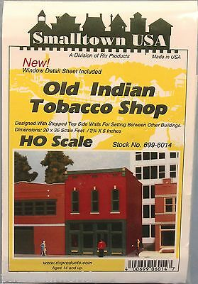 Rix Smalltown USA HO/HOn3 Scale Indian Tobacco Shop (6014)