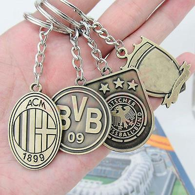 Soccer Collectible Logo Two-side Bronze Plated Keychain Keyring Phone Charm