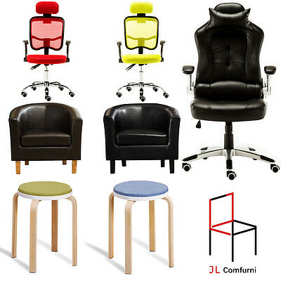 Excutive Office Leather  Swivel Desk Chair Home Faux Racing Sport  PC Computer