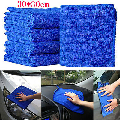2/6PC 30*30cm Absorbent Wash Cloth Car Auto Care Microfiber Cleaning Towel Cloth