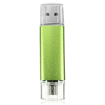 32GB USB Stick 2.0 OTG Mikro USB Flash Drive fuer Handy PC Gruen GY