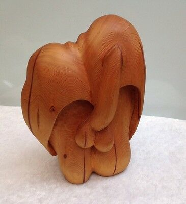 Original Leda Huon Pine Erotica Sculpture By Paul Dimmer Known Artist