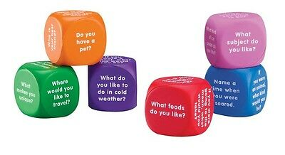 Learning Resources - Soft Foam Conversation Starter Cubes (set of 6 Dice)