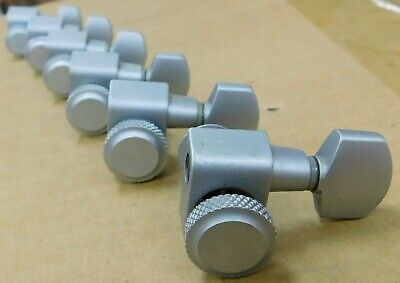 Fender Locking Tuning Machine Heads - 6 in Line - Brushed Silver - 099-0818-000