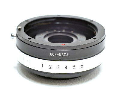 Canon EOS EF mount lens to Sony E NEX mount adapter with APERTURE CONTROL