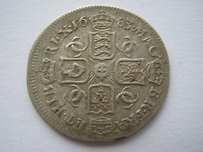 1683 Sixpence, VF. ACS
