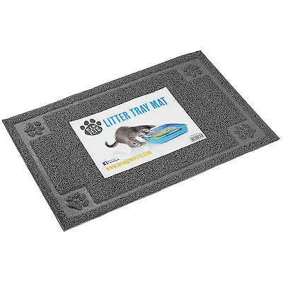 Me & My Pet Grey Pvc Cat/kitten Litter Tray/pan Floor Mat Tidy/clean/placemat