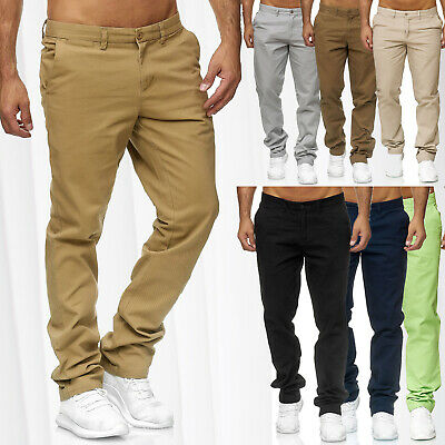 CHINO DSS Stil Jeans Hose Regular Fit Chinohose Trousers W29 - W40 Braun Beige