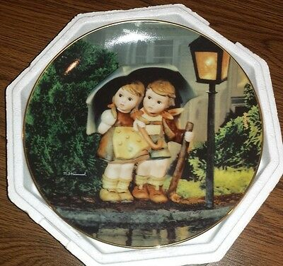 "MJ Hummel Danbury Mint Collector plate ""Stormy Weather "" Little Companions"