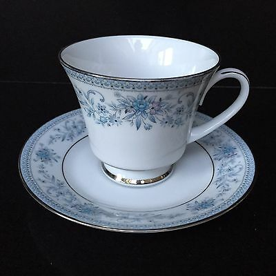NORITAKE Contemporary Fine China Blue Hill 2482 Tea cup with saucer