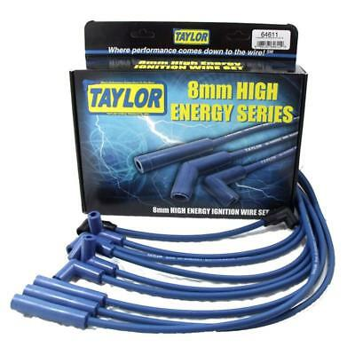 Taylor Spark Plug Wire Set 64611; High Energy 8mm Blue for Chevy V8