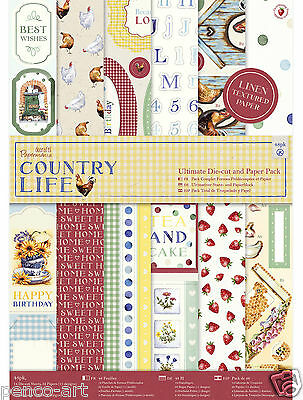 Papermania A4 160gsm ultimate die cut decoupage & paper 48 sheet pk Country Life