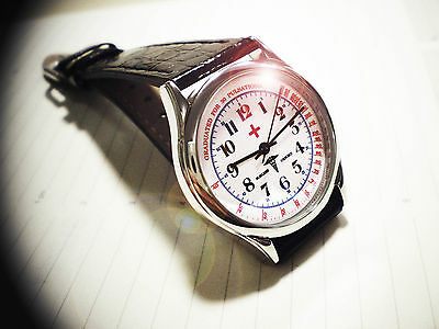 Doctor's Oxford Style Wrist Watch. Vintage Physicians Wrist Watch 1930's Style
