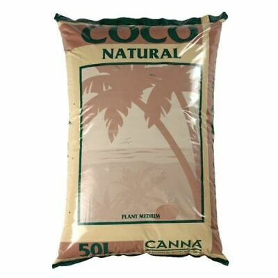 Canna Coco Natural 50L Litre Bag Coir Coco Hydroponic Grow Soil Growing Media