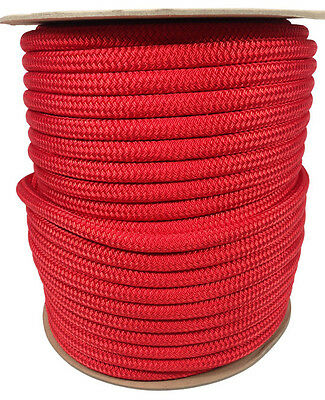 """ANCHOR ROPE DOCK LINE 3//8/"""" X 350/' BRAIDED 100/% NYLON WHITE MADE IN USA"""