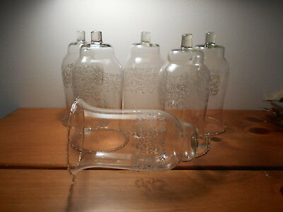 Clear  Parklane Votive Cups Lot of 6 Homco Home Interiors