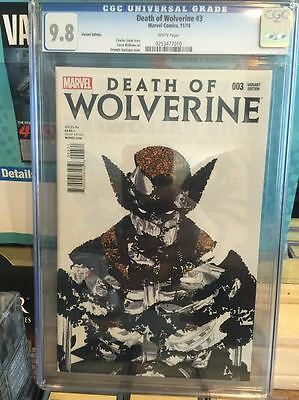 Death Of Wolverine # 3 Santiago 1:50 Variant Edition Cgc 9.8  Hot!