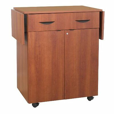 Safco Products 8962CY Hospitality Service Cart, Cherry, New, Free Shipping