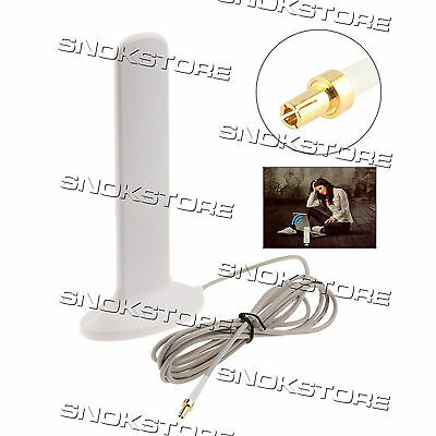 16dBi ANTENNA 4G LTE INDOOR PANEL CONNECTOR WIRE TS9 TS-9 PORT GAIN pannello