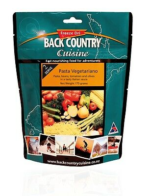 Back Country Cuisine Freeze Dried Food Pasta Vegetariano 2 Serve