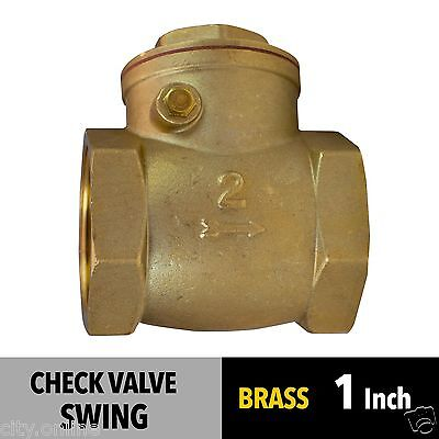 NEW SWING CHECK VALVE 1 inch 25mm BRASS BSP Female Thread Non Return Valve
