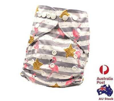 Reusable Modern Baby Cloth Nappies & Inserts All Size Diapers New Own (D257)