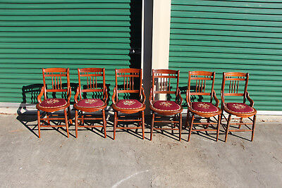 Fantastic Set of Six Victorian Dining Chairs with Needlepoint Seats ~Ca.1880